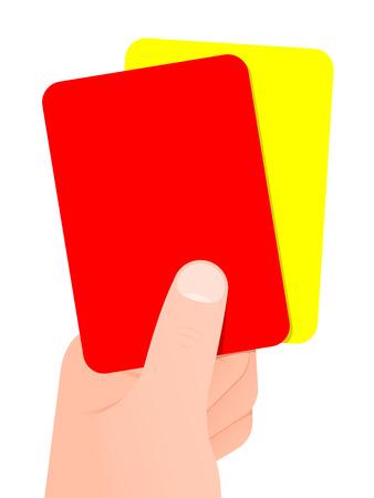 tarjeta amarilla: La celebraci�n de la mano la tarjeta roja y amarilla