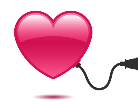 Heart with connector Illustration