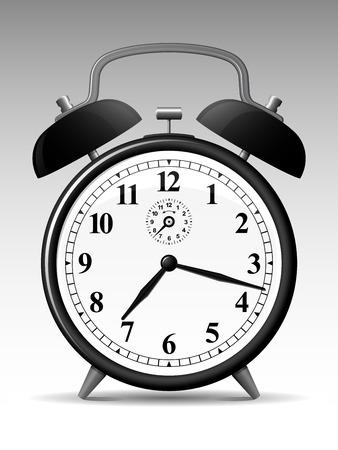 정오: classic alarmclock 일러스트