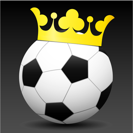 Royal soccer ball Vector