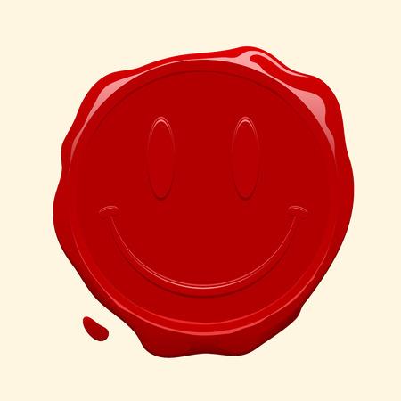signet: Smiley face wax seal
