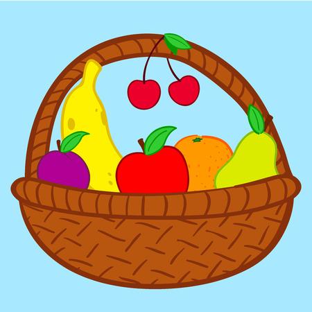 Cesta de frutas en garabato