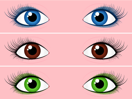 Female eye collection