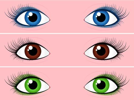 Vrouwelijke eye collectie