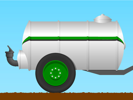 slurry: Liquid manure tanker