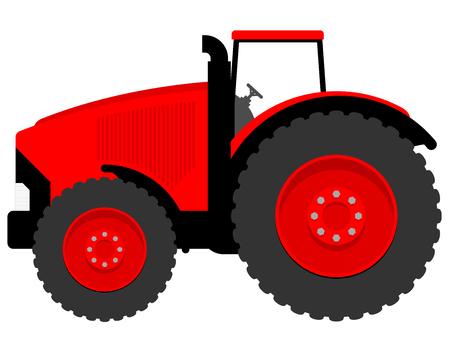 Huge tractor Vector