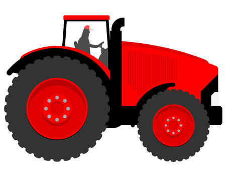 traction engine: Huge tractor Illustration