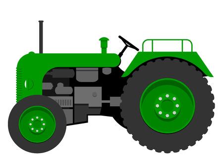 motricit�: Vieux tracteur Illustration