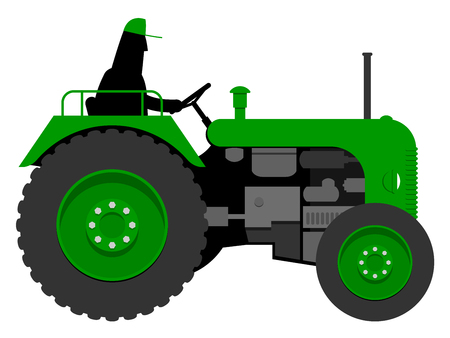 Old tractor Vector