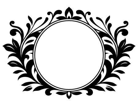 crests: Corona ornamentale con segno vuoto  Vettoriali