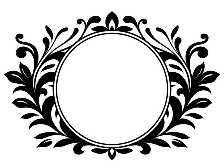 Ornamental wreath with blank sign Stock Vector - 4504681