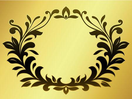 black wreath: Ornamental wreath