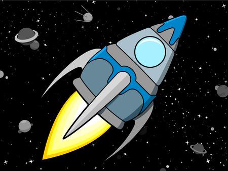 Rocket in Space Stock Vector - 4553259