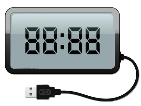 despertador: Reloj de alarma digital con cable USB