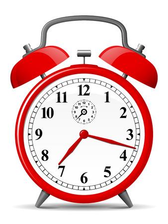 alarm: Red retro alarm clock