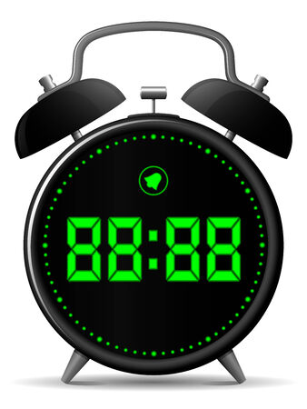 Classic alarm clock with digital display