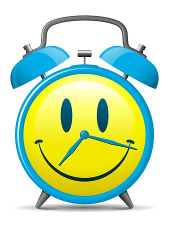 happy hours: R�veil classique avec smiley face  Illustration