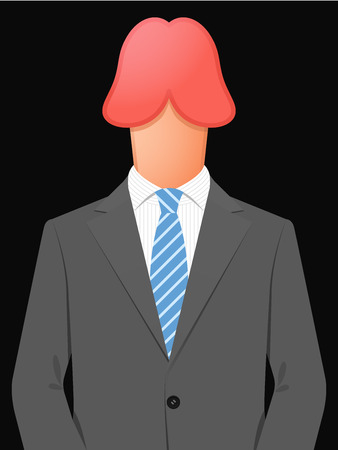 penis: Business man with erect penis head