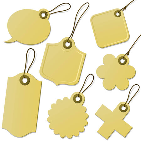 Cardboard tag collection Vector