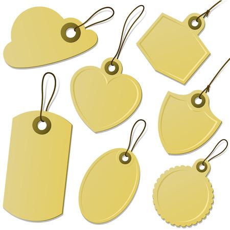 Cardboard tag collection Illustration