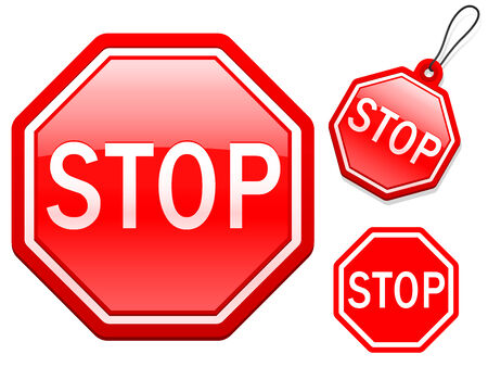Stop sign collection Vector