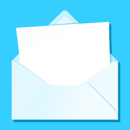 Blank letter in envelope Vector