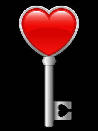 Heart key Vector