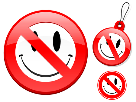 Prohibition sign collection - smiley face Vector