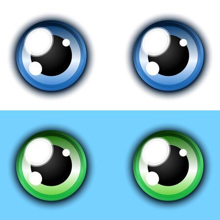 Shiny cartoon eye collection