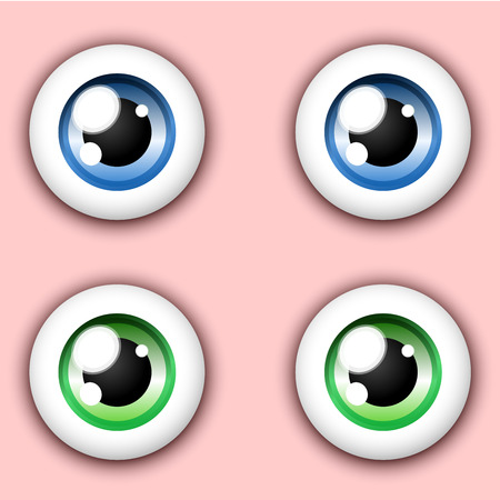green eyes: Shiny cartoon eye collection