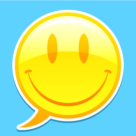 shadow face: Smiley face speech balloon
