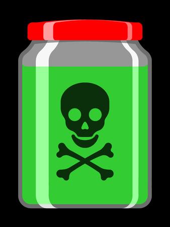 Jar with toxic liquid Stock Vector - 5187546