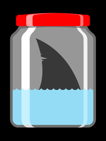 Shark in preserving jar Vector