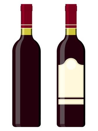 Wine bottles - red Stock Vector - 5231211
