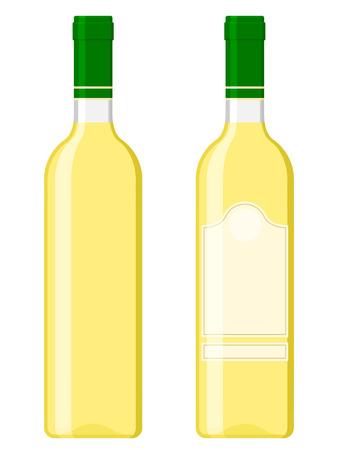 Wine bottles - white Stock Vector - 5231214