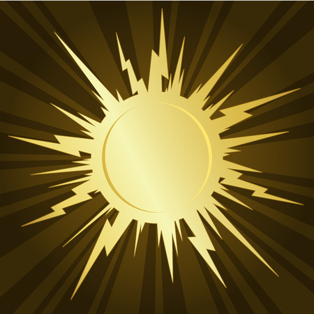 Golden starburst Illustration