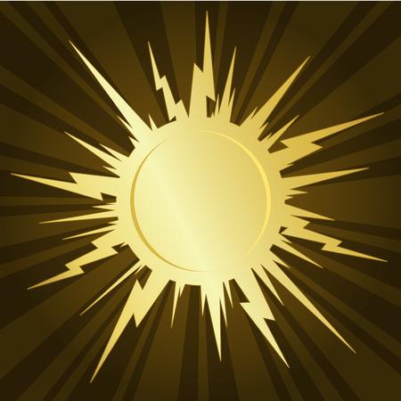 Golden starburst Stock Illustratie