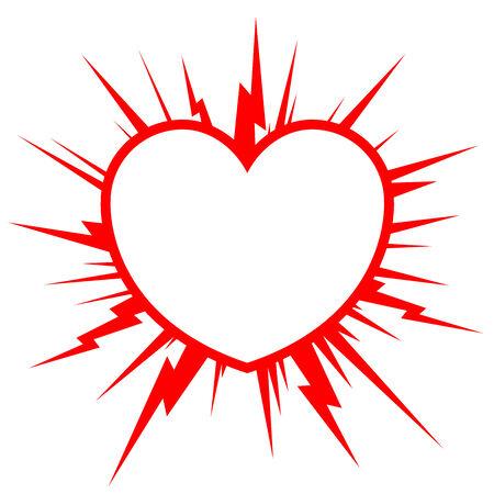 Heart starburst
