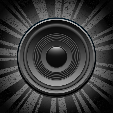 Speaker on grunge background Vector