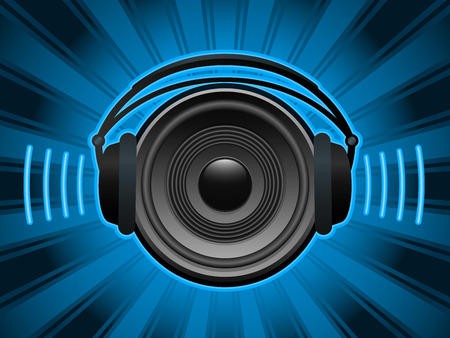 Speaker with headphones Vector
