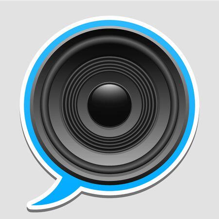 Speaker speech bubble Stock Vector - 5282215