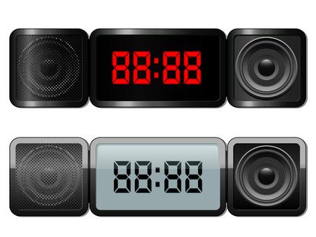clock radio: Reloj de alarma digital con altavoces