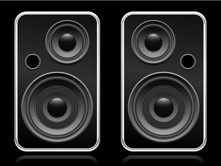 Set of speakers Stock Vector - 5371018