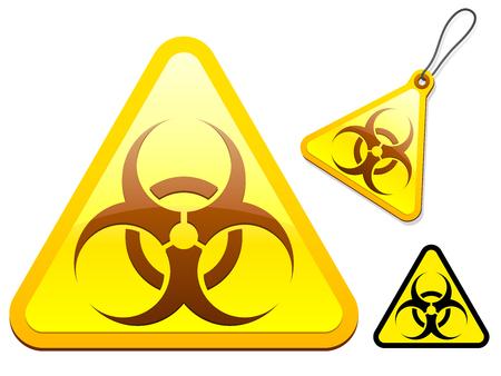 Biohazard tagicon collection Vector