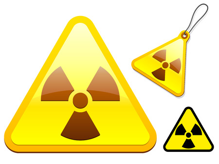Radioactive tag/icon collection Stock Vector - 5664063