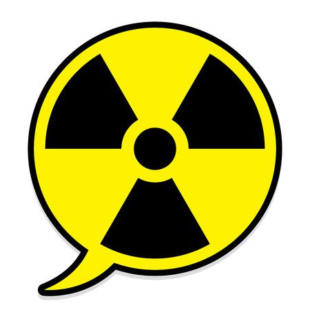 Radioactive icon in speech bubble Stock Vector - 5663984