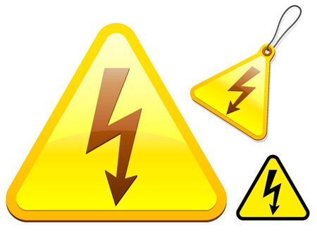 High voltage icon collection Stock Vector - 5688534