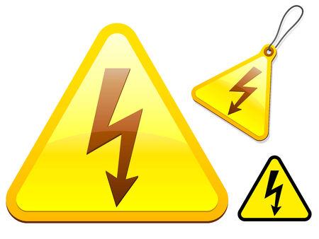 spannung: High Voltage Symbol Sammlung