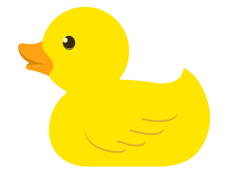 Isolated rubber duck