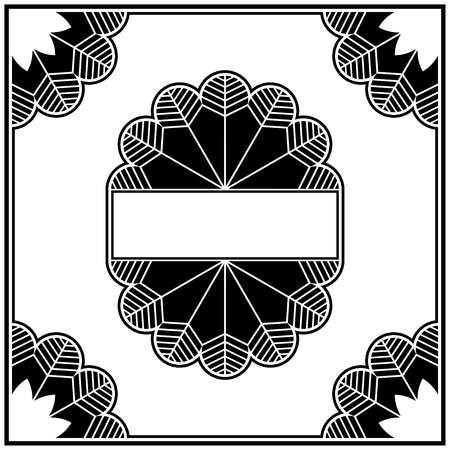 Art deco design elements collection border Vector